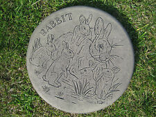 Stepping stone (rabbit) garden ornament | 57 other designs in my shop!