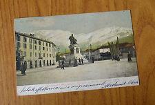 CARTOLINA UN SALUTO DA LECCO MONTE RESEGONE VIAGGIATA 1910  SUBALPINA HH