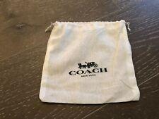 Coach Muslim Thin White Drawstring Dust Cover 7 1/2 X 7 3/4 Inches