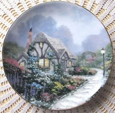 Thomas Kinkade CHANDLERS COTTAGE 1st Issue In Garden Cottages Plate COA Mint