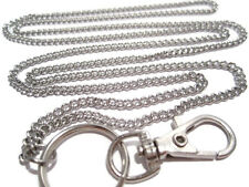 Just a Plain Chain Lanyard - Stainless Steel Badge Holder- Id Badge Lanyard - Id