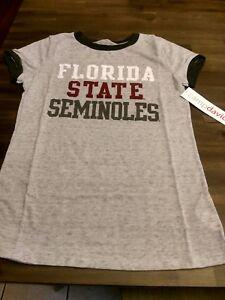 Florida State Seminoles Women's T-Shirt Size Medium Camp David Color Charcoal