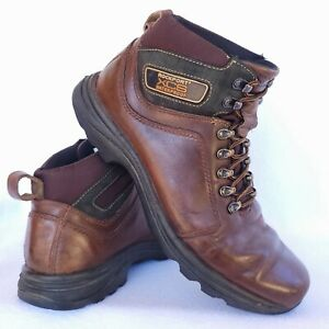 Rockport Mens Size 9.5 XCS Waterproof Genuine Brown Leather Hiking Boot APM7504D