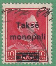 Albania Customs & Excise Revenue Barefoot #14 used 10Q Monopol King 1930 cv $15