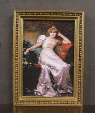 FRAMED  PICTURE  ~ Handcrafted ~ Dollhouse Miniature ~ 1:12 scale ~ Room Box