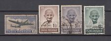 India Used set of 1948 4 Stamps (without Rs 10 Mahatma Gandhi)