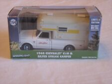 GreenLight Hobby Exclusive '68 Chevy C10 * Silver Streak Camper 1/64 scale