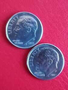 2x2012 US 1 dime coins. Circulated & Collectable!