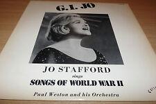 JO STAFFORD - G.I.JO - SONGS OF WORLD WAR II - AMERICAN 1980's PRESSING - MINT.