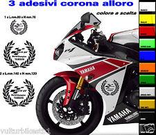kit adesivi compatibili per carene yamaha r1 corona alloro motogp world champion