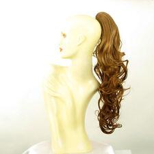 Postiche queue de cheval femme ongulée blond foncé cuivré 65 cm ref 6 en g27