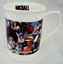 Michael Jackson Mug Michael jackson Collage Bone China Mug hand decorated in UK