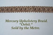 "Cream/Ivory Upholstery Braid ""Mercury Orbit"" 15mm wide (sold by the Metre)"