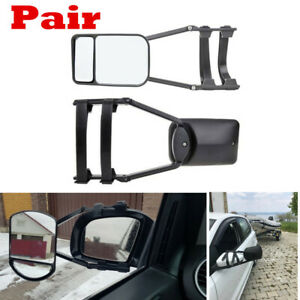 2x Universal Clip-On Towing Mirror for Trailer Safe Hauling Adjustable Extension