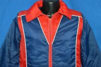 vintage 70s JC PENNEY RED BLUE WHITE PIPING NYLON POLY SKI WINTER MEN'S JACKET S