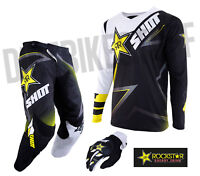 NEW 2019 SHOT ROCKSTAR ENERGY PANT & JERSEY MOTOCROSS ENDURO MX COMBO KIT