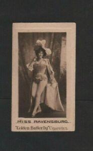 Hignett Golden Butterfly Cigarettes Beauties 1898 One Card Excellent