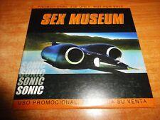 SEX MUSEUM Sonic CD ALBUM PROMO CARTON DEL AÑO 2000 CONTIENE 11 TEMAS
