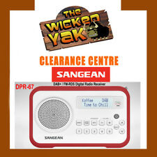 Sangean DPR-67 Rechargeable DAB+ / FM-RDS Digital Radio White/Red+AUS WARRANTY