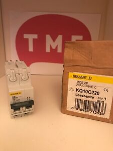 Square D Loadcentre 20A 10kA 2P 2 Module Type C KQ MCB KQ10C220