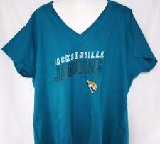 NEW Womens Jacksonville Jaguars V Neck Short Sleeve Football Shirt NFL Apparel