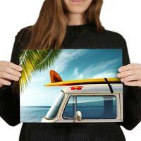 A4 - Beach Camper Van Surf Bus Poster 29.7X21cm280gsm #8200