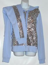 Victoria's Secret Pink Limited Edition Bling Sequin Hoodie & Collegiate Pant M