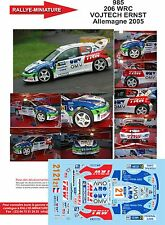 DÉCALS 1/43 réf 985  Peugeot 206 WRC VOJTECH ERNST Allemagne 2005