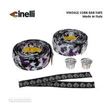 NOS VINTAGE Cinelli CORK Handlebar Tape SETTE GREY/PURPLE/WHITE - Made in Italy!