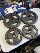 "2.5lb & 5lb Rubber Coated 1"" Standard Grip Weight Plates (15lbs Total) BRAND NEW"
