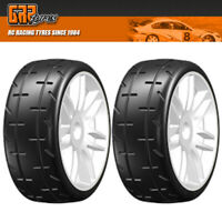 GRP GTH01-S5 1:8 GT T01 REVO S5 Medium Belted Tire w/ Spoked White Wheel (2)