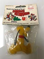 Nos Vintage Pluto Wonderful World Of Disney Christmas Decoration Flocked