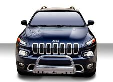 Black Horse 2014-2018 Jeep CHEROKEE Bull Bar Bumper Brush Grille Guard BBJPCE-SP