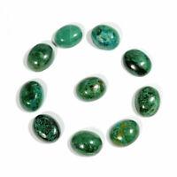 25.00Cts Natural Green Chrysocolla Oval Cabochon 10pcs Wholesale Gemstone Lot