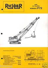 ▬►Prospectus de 1969 RICHIER PELLE CHENILLES NORDEST P72 NO POCLAIN