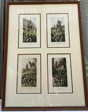 ART PRINT GEORGE WRIGHT SAVORY BRISTOL FOX HUNT HORSE EQUESTRIAN FRAMED GROUP