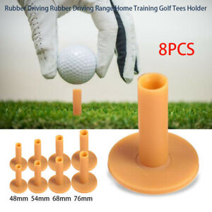 Rubber Driving Rubber Driving Range Home Training Golf Tees Holder set of 8