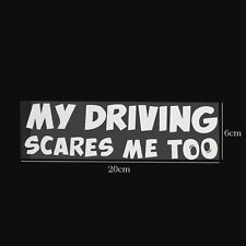 Funny Custom My Driving Scares Me Too Car Graphics SUV Decal BBY Window Sticker
