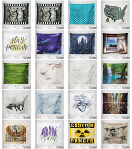 Microfiber Fabric Tapestry Wall Hanging Decor in 5 Sizes by Ambesonne