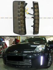 DIRECT FIT 03-05 NISSAN 350Z BUMPER REFLECTOR SMOKE 7 LED DAY TIME RUNNING LIGHT