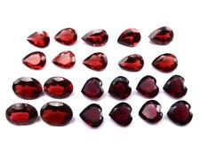 Grenat - facetté ovale, poire, cœur - 22pcs - 20.95Cts - sertissage