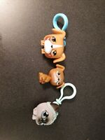 LPS Littlest Pet Shop lot of 3 authentic cat, two dogs with clips