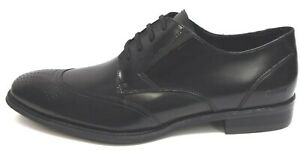 Kenneth Cole Size 12 Black Leather Oxfords New Mens Shoes