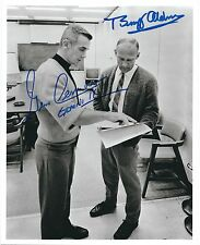 GENE CERNAN & BUZZ ALDRIN SIGNED 8x10 PHOTO - UACC RD NASA ASTRONAUT AUTOGRAPH