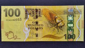 FIJI $100 dollars,ND 2012 - 2013, AUNC > New Colourful AUNC Banknote