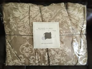 NWT Ann Gish Countess Ivory Gold QUEEN Bed Skirt