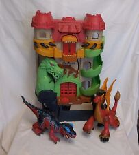 Fisher Price Imaginext dragon world castle fortress + Dinosaur T Rex + Red Drago