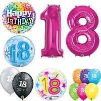 Age 18 - Happy 18th Birthday Qualatex Balloons {Helium Party Balloons Boy/Girl}