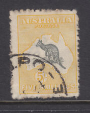 KANGAROO :  5/ GREY AND YELLOW  3RD WMK  SOUND USED WITH USUAL FLUFFY PERFS