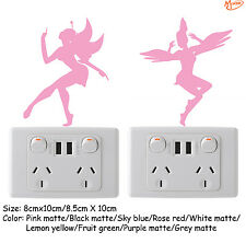 2 Fairies light switch stickers  Removable wall stickers Best Gifts Presents
